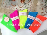 10  pairs  Fluorescence socks in tube socks cotton socks spring