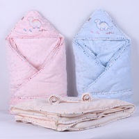 Free shipping Dongkuan newborn hold to be / coated / detachable liner coral fleece blankets