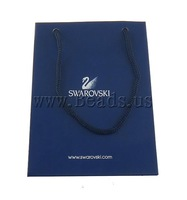 Free shipping!!!Shopping Bag,Beautiful Jewelry, Paper, Rectangle, sapphire, 15x110x70mm, 50PCs/Lot, Sold By Lot