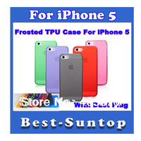 Frosted Soft Rubber TPU Case Cover with Dust Proof Plugs for Iphone 5 NEW