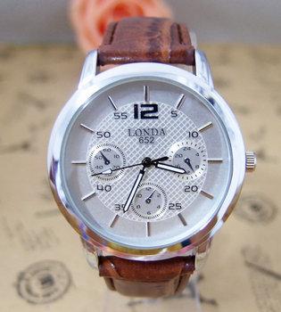Hot Sale Fashion High Quality Leather Men Quartz Wrist Analog Watch  londa-1