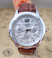 Hot Sale Fashion High Quality Leather Men Quartz Wrist Analog Watch  londa-1