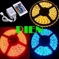 IP68 RGB LED Strip Light Flexible 5050 300 LED 5M Tape Lamp Underwater pool DC12V+24Key Remote Controller by Express 6set/lot