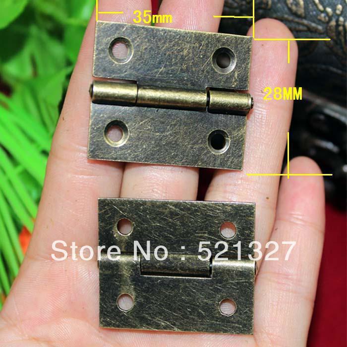 Looking hinge hinge antique wooden gift box hinge 35 * 28MM(China (Mainland))