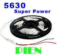 5630 Super Bright LED Strip Light SMD High Lumen 300 LED 5M Flexiable Tape Lighting white Non Waterproof Free Shipping 5M/lot