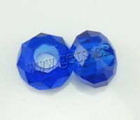 Free shipping!!!European Crystal Beads,2013 new fashion girl, Rond, without troll, Sapphire, 14x7mm, Hole:Approx 6mm