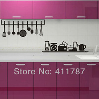Free Shipping Home Decor Cool Kitchen Tools Pvc Removeable Wall Stickers Wall Decals