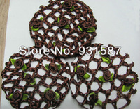 Free shipping Flower  Snood Bun Cover Mesh Bun  Hair Net  Mix Colors
