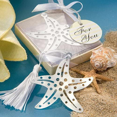 wedding favors wholesale Popular Wedding Return Gifts, Loverly Starfish Matel Bookmarks,Lottery gift 50 pcs/lot---Free Shipping(China (Mainland))