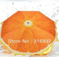 Orange style 3 folding umbrella  anti-uv Manual umbrella, 1pc