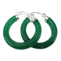 beautiful Green Jade Earring