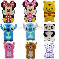 Cartoon Mickey Mouse Winnie Bear Panda Stitch Soft Silicone Case Cover For Samsung Galaxy Note 2 N7100
