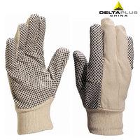 Free Shipping, Deltaplus 208007 pvc slip-resistant gloves safety gloves point plastic gloves
