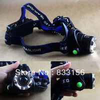 1600LM Lumen CREE XML XM-L T6 LED Zoomable Headlamp Headlight Torch Flashlight Rechargeable