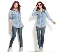 2013 new design autumn women slim denim jacket coat, lady vintage jean jacket outerwear, 2 color option