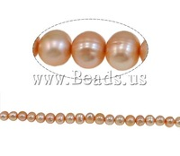 Free shipping!!!Baroque Cultured Freshwater Pearl Beads,Lovely Jewelry, 5-6mm, Hole:Approx 1mm, Length:15.4 Inch