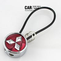 MITSUBISHI emblem steel wire rope car keychain MITSUBISHI key chain ring lancer galant
