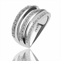 18K gold plated ring fashion ring Genuine Austrian crystals italina ring,Nickle free antiallergic factory prices kly tox R068