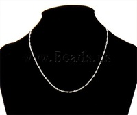Free shipping!!!Necklace Chain,Bulk Jewelry, Brass, plated, silver, 1.70mm, Length:Approx 16 Inch, 100Strands/Lot, Sold By Lot