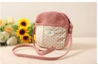 Diagonal package female canvas bag embroidered cloth shoulder bag mini small cloth cloth Polka Dot