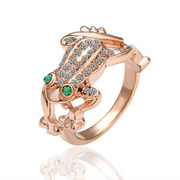 18K gold plated ring fashion ring Genuine Austrian crystals italina ring,Nickle free antiallergic factory prices ehf okw R013