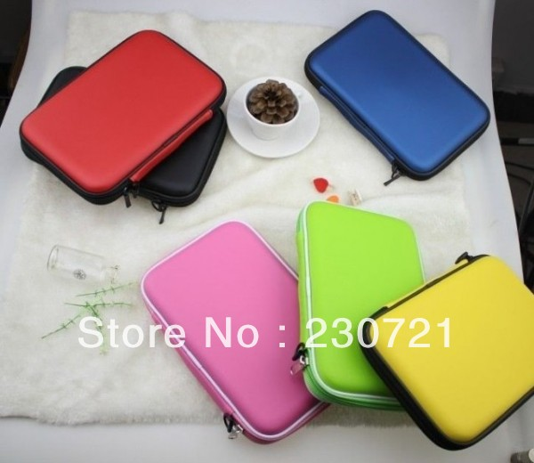 20pcs Universal PU Leather Case Bag with Speaker for 7 Inch Tablet PC DHL Fedex Free shipping(China (Mainland))