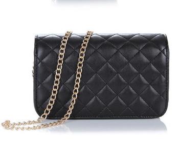 2013 Famous Name Designer Brand Women Messenger Bag Fashion Plaid Small Shoulder bag Double C logo Handbag Free shipping