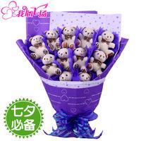 Free shipping Bear bouquet doll cartoon bouquet bountyless birthday day gift