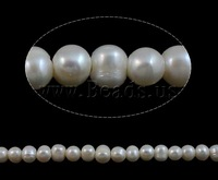 Free shipping!!!Baroque Cultured Freshwater Pearl Beads,Elegant, Oval, natural, white, 8-9mm, Hole:Approx 2mm