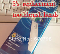 Promotion--- (1pack=5pcs) EB17-5/EB17-4+1  Electric Replacement Toothbrush Heads,O-ral B-rush hygiene Plastic retailbox