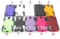 Reticulated shell design PC silicone 2 in 1 mesh hard case Samsung Galaxy S4 Mini i9190