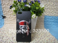 "FREE SHIPPING HIGH QUALITY PLASTIC HARD CASE FOR IPHONE 5 EMBOSSED WITH RHINESTONES DESIGN OF ""FASHION PIRATE"""