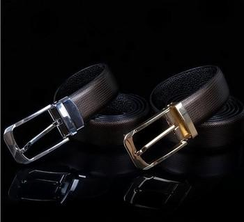 Genuine Leather Mens Needle Buckle Belt  Designer Classics Belt Men Metal Sliver Gold Cow Leather Belt Man Fashion Waist Chain