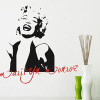 SIZE:660 x 660mm FASHION Marilyn Monroe home tattoo wall art decals stickers crystal poster mural decoration vintage wallpapers