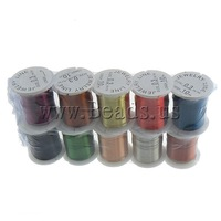 Free shipping!!!Copper Wire,Bulk Jewelry, mixed colors, 0.30mm, Length:100 m, 10PCs/Lot, Sold By Lot