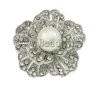 Free shipping!!!Freshwater Pearl Brooch,Cheap Jewelry Fashion, Cultured Freshwater Pearl, with Zinc Alloy, Flower