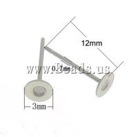 Free shipping!!!Stainless Steel Earring Post,2013 designers for men, 304 Stainless Steel, oril color, 12x3mm, 0.7mm