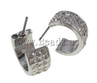 Free shipping!!!Zinc Alloy Stud Earring,2013 designers for men, stainless steel post, Dome, platinum color plated