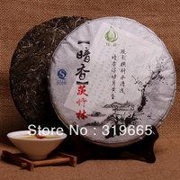 Wholesale premiumAncient street Pu'er Tea Health Tea Yi Wu spring 2013 Mainz bamboo arbor trees Seven cake Specials+gift +freesh