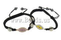 Free shipping!!!Evil Eye Connector Shamballa Bracelet,Lovely Jewelry, Zinc Alloy