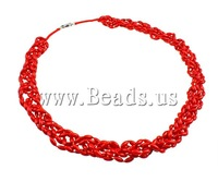 Free shipping!!!Coral Necklace,chinese style, Natural Coral, red, 3.50x8mm, Length:23.5 Inch, Sold Per 23.5 Inch
