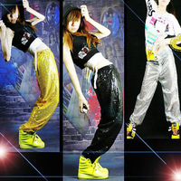 Ds costume dance jazz paillette hiphop hip-hop hiphop set top trousers