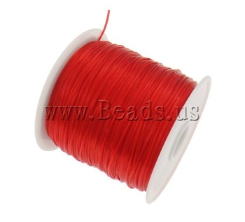 Free shipping!!!Elastic Thread,Vintage, elastic, Korea Imported, red, 1mm, Length:Approx 1750 m, 25PCs/Bag, Sold By Bag