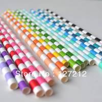 Original Circular Striped Paper Straws wedding Supplies 19.5MM 2000pcs/lot 20 Colours  Free Shiping Via DHL/EMS/FEDEX