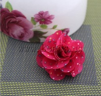 Free shipping!!!Fashion Decoration Flowers,Fashion Jewelry Graceful, Cloth, red, 45x45mm, 80PCs/Lot, Sold By Lot