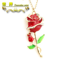 Min. order is $15 (mix order) omen's  fashion  rose lovers necklace