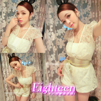 2013 ! ladies elegant lace slim waist jumpsuit