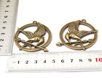 10 PCS Gold Bronze Alloy Double-Sided Round Bird Charms DIY Bracelet Necklace Components Steampunk Jewelry Findings Fittings