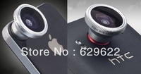 10pcs/lot Detachable Magnetic 180 Degree Wide Fish Eye Lens for Apple iPhone4/4S/5/ Samsung free shipping CL-2
