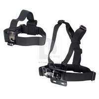 Portable Adjustable Head Strap Mount +Adjustable Chest Mount Harness for Camera P0003881 Free Shipping